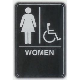 6x9 ADA Braille Sign - Women Handicap