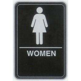 6x9 ADA Braille Sign - Women