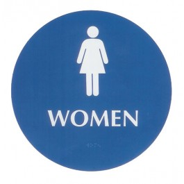 Restroom Braille Sign - Large ADA - Women (Posters)