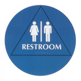 Restroom Braille Sign - Large ADA - Unisex (Posters)