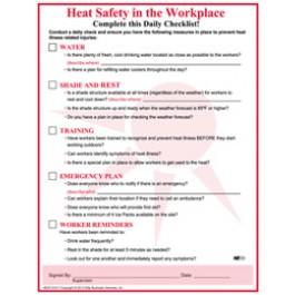 Heat Stress Checklist
