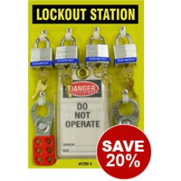Lockout Station Kit (4 padlock)