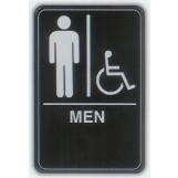 6x9 ADA Braille Sign - Men Handicap