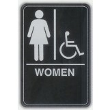 6x9 ADA Braille Sign - Women Handicap