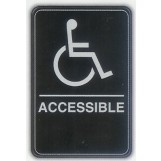 6x9 ADA Braille Sign - Handicap Accessible