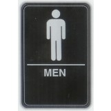 6x9 ADA Braille Sign - Men