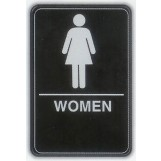6x9 ADA Braille Sign - Women