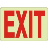"Exit Sign - Glow in the dark (10""x14"")"