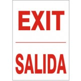 "Exit Sign - Bilingual (7""x10"")"