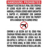 Texas Open Carry Sign (30.07)
